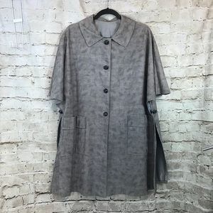 VINTAGE Cotton Lined Jacket button open sides